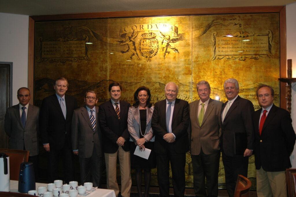 Reunión de trabajo con el ministro de Asuntos Exteriores M. A. Moratinos en Cámara Córdoba, 2008